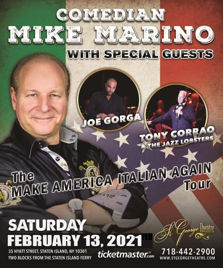 Mike Marino with special guests Joe Gorga and Tony Corrao