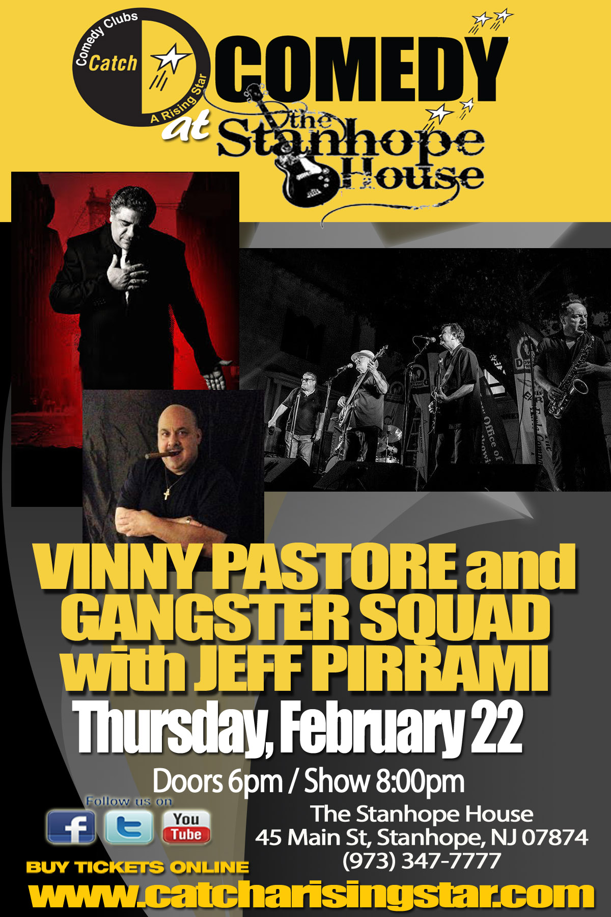 Vinny Pastore & Gangster Squad with Jeff Pirrami at The Stanhope House